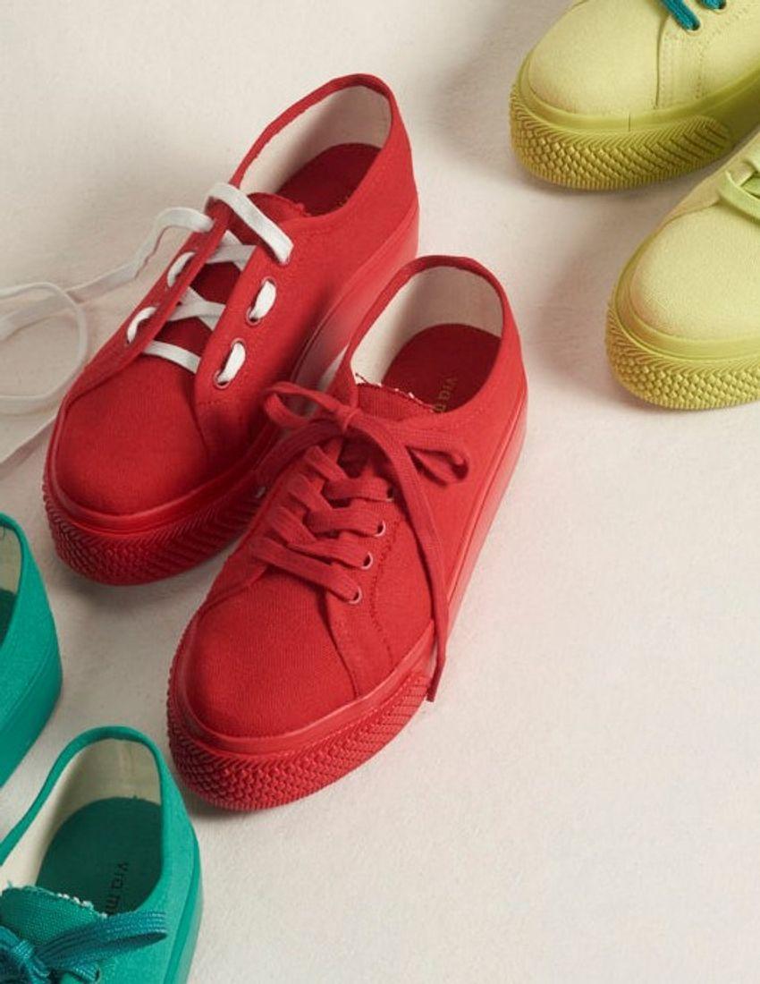 Tênis Monocolor - Vermelho
