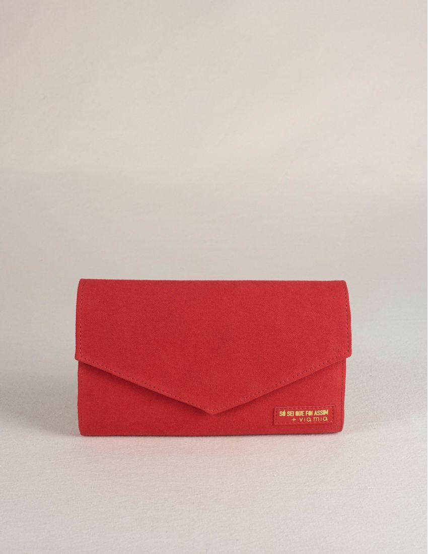 Porta-Documentos Viagem Lona - Vermelho e567fce08044f