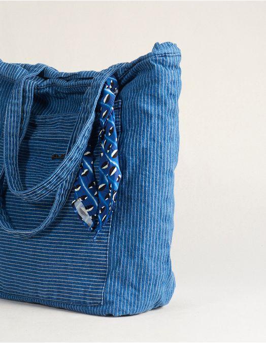 4276c7f0a Bolsa Jeans Listras Lenço - viamia